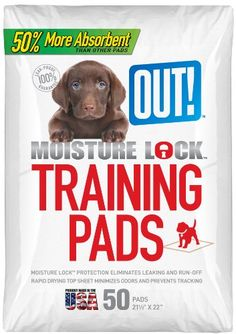 OUT! Dog Training Pads with Moisture Lock, 50-Count  check this out at www.petsuppliesonlineuk.com