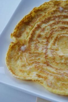 Tashas Thin Pancakes.  - yummy and crisp on the edges.  LOVE.