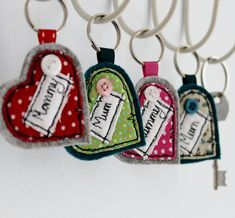 personalised heart keyring by honeypips | notonthehighstreet.com