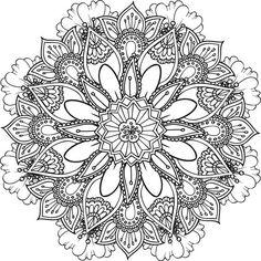 Retrouvez deux nouveaux coloriages, des mandalas floraux, à télécharger, imprimer, colorier !