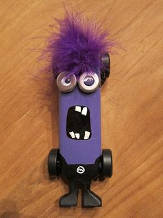 Evil Minion Pinewood Derby Car | Flickr - Photo Sharing! Scout Mom, Girl Scout Troop, Cub Scouts, Girl Scouts, Awana Grand Prix Car Ideas, Co2 Cars, Evil Minions, Funny Minion, Minion Pattern