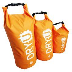 All Sizes Orange DRYU waterproof dry bag
