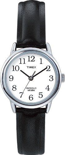 Timex Women's 20441 Easy Reader Black Leather Watch Timex