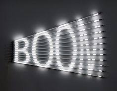 BOOM fluorescent lights, acrylic tubes and light filters, 85 x 120 cm Fluorescent Tube Light, Acrylic Tube, Colossal Art, Branding, Poster S, Neon Lighting, Linear Lighting, Light Art, Installation Art
