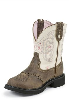Cowgirl Boots | Justin Gypsy Brown Cowhide Cowgirl Boots     I have these!!!