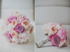 Pretty pink rose and peach peony bouquet | Photography by http://www.ferriphotography.co.uk/
