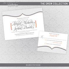 DIY Wedding Invitation - The Drew Suite. $35.00, via Etsy.