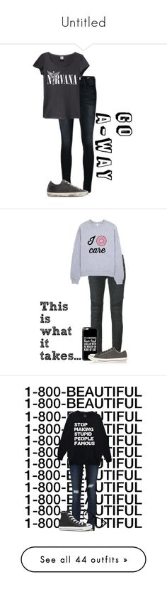 """""""Untitled"""" by aliciastylinson ❤ liked on Polyvore featuring Frame Denim, Golden Goose, Balmain, Casetify, Converse, AG Adriano Goldschmied, Muse, Calvin Klein, True Religion and Saachi"""