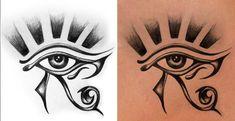 Tattoo Sleeve Egyptian Eye Of Horus 59 Ideas Egyptian Eye Tattoos, Egyptian Tattoo Sleeve, Egyptian Art, Egyptian Mythology, Egyptian Goddess, Symbol Tattoos, Ankh Tattoo, Forearm Sleeve Tattoos, Tattoo Sleeve Designs