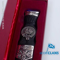 Douglas Clan Crest Sgian Dubh. Free Worldwide Shipping Available