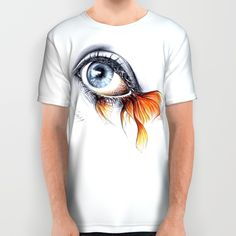 #alloverprint #tshirt #eye #fish #aquatic #clothing #surreal