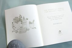 THE ESSENTIAL HERBAL FOR NATURAL HEALTH with beautiful illustrations by Geninne.