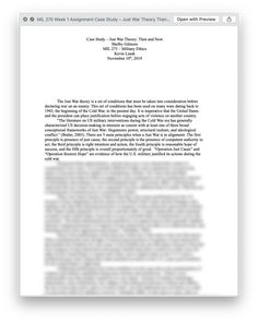 Ashford MIL 275 Week 1 Assignment Case Study – Just War Theory Then and Now Weapon Of Mass Destruction, Nation State, University Of Maryland, Dealing With Stress, Military Personnel, Then And Now, Case Study, Proposal, Media Campaign