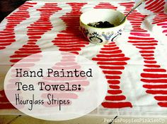 Hand painted tea towel