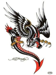 "Ed Hardy Panther Eagle Temporary Body Art Tattoos 3"" x 4"" Ed Hardy,http://www.amazon.com/dp/B00A140YT2/ref=cm_sw_r_pi_dp_vXwRqb0VWEAAKCPC #tattoos #bodyart #edhardy"