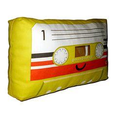 Yellow Cassette Pillow