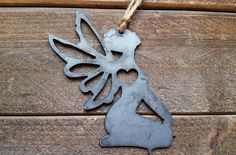 Love Fairies Rustic Metal Recycled Steel Heart Ornamnet by rvmetalshop on Etsy Cnc Plasma Table, Batch Production, Gift Wraping, Steel Wool, Love Fairy, Black Oxide, Heart Ornament, Custom Engraving, Save Energy