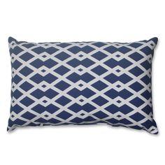 Pillow Perfect Graphic Ultramarine Rectangular Throw Pillow | Overstock.com Shopping - The Best Deals on Throw Pillows