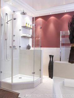 duschabtrennung als schiebelösung mit duschrinne gegen die wand +, Hause ideen
