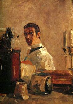 artistandstudio: Henri de Toulouse-Lautrec, Self-Portrait, c. 1882