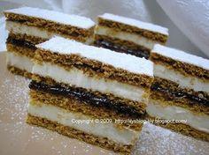 Prajitura Dulcineea Romanian Desserts, Romanian Food, My Favorite Food, Favorite Recipes, Lily Cake, Hungarian Cake, Cupcake Cakes, Cupcakes, Sweets Recipes