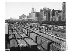 Chicago: Railyard, c1960s Print