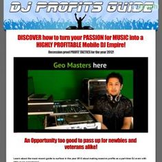 Learn How To Become A Dj With The Dj Profits Guide System! The Best Complement For Any How To Dj Course. Learn About The Business Side Of Deejaying And Become A Pro Mobile Dj With This System Comprised Of Many Training E-books, Audios And Videos! See more! : http://get-now.natantoday.com/lp.php?target=gmasters