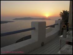 Santorin coucher de soleil (c) les cahiers de Lucie-Rose