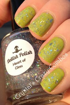 Crystal's Crazy Combos: Dollish Polish Heart of Glass
