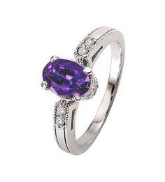 La sortija de diamantes y amatista AQUILES es un hermoso anillo para uso cotidiano, con una amatista central y diamantes de alta calidad, que hará las delicias de todas aquellas mujeres amantes de las gemas de color.