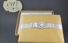 Couture Bright Gold Dupioni Silk Boxed Invitation by CutInvites, $14.00 on Etsy.com