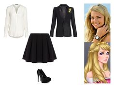 """Aurora- Hufflepuff"" by ilovecats-886 ❤ liked on Polyvore featuring Disney, H2O+, Giuseppe Zanotti, Laveer and Polo Ralph Lauren"