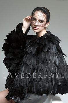 This cape is pretty dramatic. $169.99, from LavederFaye on etsy.