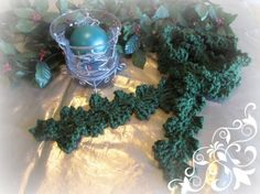 Mistletoe Holiday Memories Crochet Scarf | Crochet Pattern | YouCanMakeThis.com