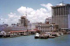Waiheke-Auckland: Kestrel and Toroa ferries at Queens Wharf Auckland New Zealand, Norfolk Island, Auckland New Zealand, The Golden Years, Kestrel, Antarctica, Continents, The Neighbourhood, Nostalgia, Ocean