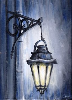 Original Acrylic Painting Night Light by JoleyWileyFineArt
