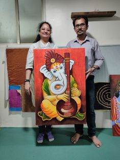 Kerala Mural Painting, Buddha Painting, Madhubani Painting, Buddha Art, Lord Ganesha Paintings, Ganesha Art, Small Canvas Art, Diy Canvas Art, African Art Paintings