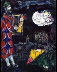 King David's Tower, 1971, Marc Chagall  Size: 117x90 cm Medium: oil on canvas