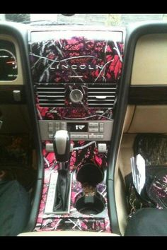 pink camo interior