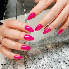Variety of Almond Nail Designs for a Sophisticated Look ❤️ Cute and Sweet Pink Almond Nail Designs picture 1 ❤️ Almond nail designs will not only make your nails look longer, but also add a whiff of elegance to your total look. Check out these nail design variants. https://naildesignsjournal.com/almond-nail-designs/ #naildesignsjournal #nails