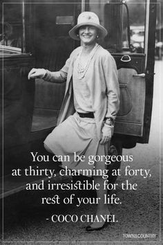 Coco Chanel famously lived her life according to her own rules. Her musings on elegance, love, and life are as timeless as her classic Chanel designs. Take a look at the founder of Chanel's most memorable, inspiring, and outspoken quotes here. Happy Quotes, Great Quotes, Quotes To Live By, Life Quotes, Inspirational Quotes, Happiness Quotes, Estilo Coco Chanel, Coco Chanel Fashion, Chanel Chanel