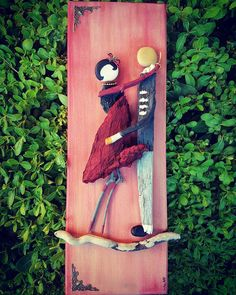 #pebbleart #madewith❤ #madebyhand #couple #driftwood #paintedbyhand #rockpainting #love