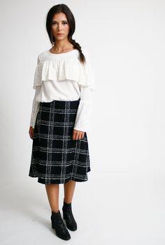 Falda chanel negra | Bluedale