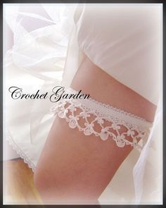 Lara's Heirloom Garter - Crochet Pattern Keep and Toss Garters. $5.99, via Etsy.