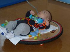 Rocking, swaying, spinning , swinging & rolling are very important balance activities to stimulate the vestibular (balance) system. Children of all ages, right from birth, need constant daily stimulation of the vestibular system.