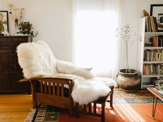 sherpa throw to any mission chair.. instant elegance