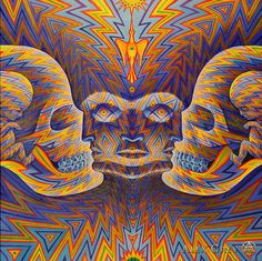 Alex Grey paintings #painting #kitsch #psychedelism