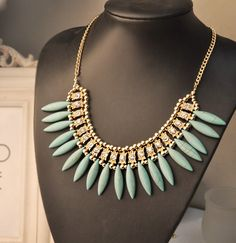 WHOLESALE FASHION JEWELRY ACCESSORIES NEW DESIGN LADY GORGEOUS MIXED RETRO TURQUOISE TASSEL BIB STATEMENT NECKLACE COLLAR HOT