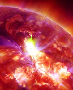 Solar flare on January 23rd, 2012. This is why I love science.  #Beautiful #Fascinating But most importantly, it kind of looks like a giant space monster eating a planet.