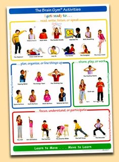 The Brain Gym Activities Poster